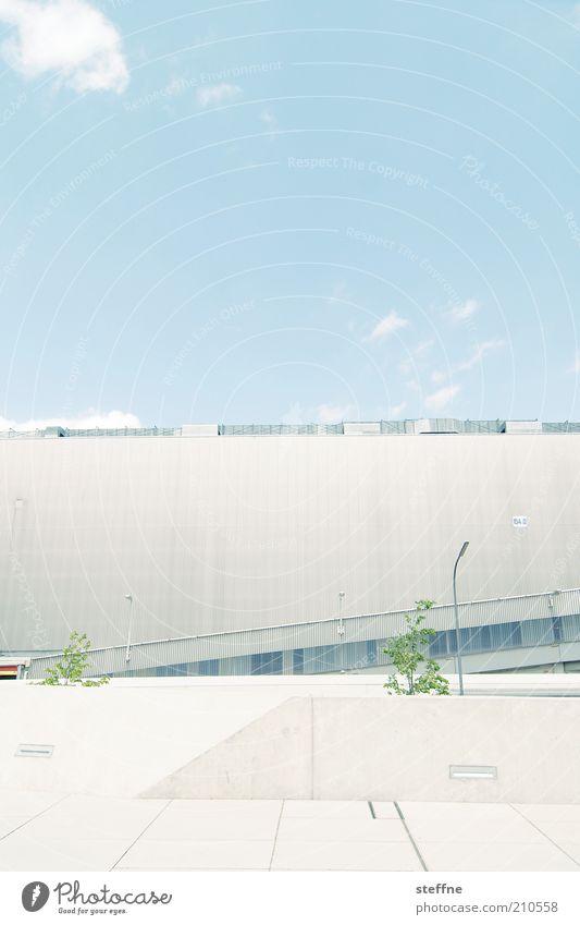futur II Himmel Stadt Wolken Beton Fassade modern Zukunft Schönes Wetter Blauer Himmel