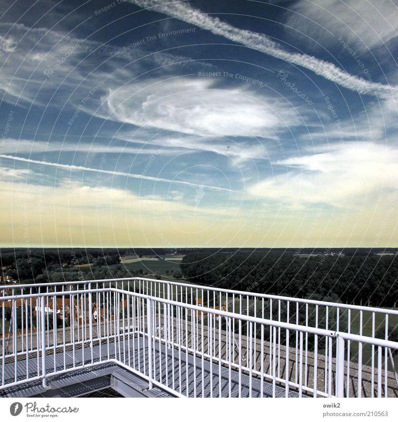 Flanders Fields Natur Himmel Sommer Ferien & Urlaub & Reisen Wolken Ferne Freiheit Linie Umwelt Horizont Ausflug Luftverkehr Tourismus Aussicht Turm