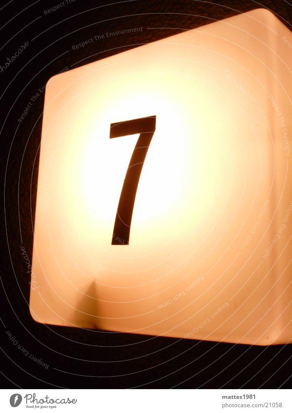 777 gelb Lampe Dinge Eingang 7 Hausnummer