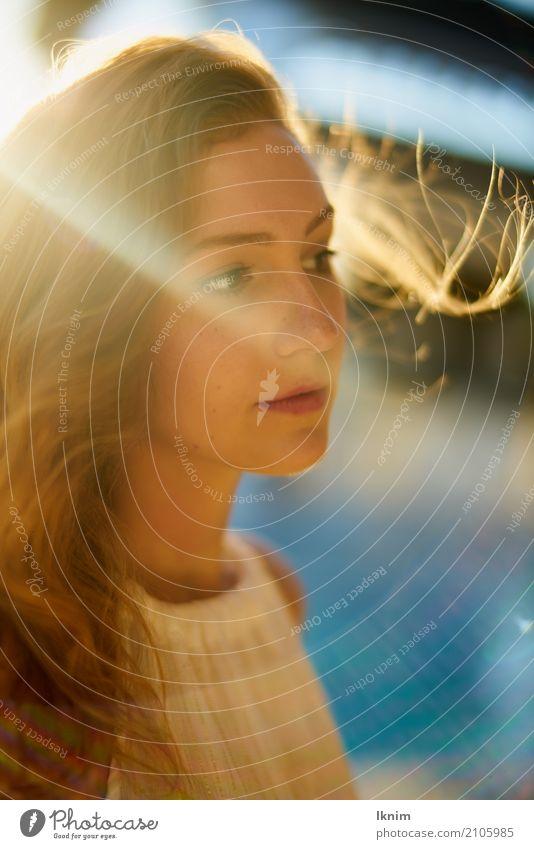 Sunshine girl schön Gesundheit Wellness Leben harmonisch Wohlgefühl Zufriedenheit Sinnesorgane Erholung ruhig Ferien & Urlaub & Reisen Sommer Sommerurlaub Sonne