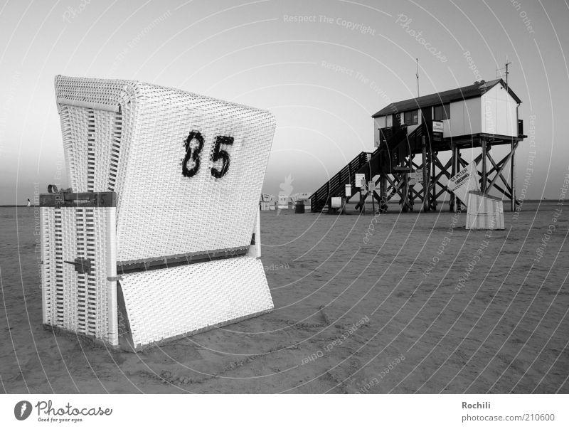 85 - Sankt Peter-Ording Meer Sommer Strand Ferien & Urlaub & Reisen ruhig Erholung Freiheit Glück Sand Zufriedenheit Küste Insel Tourismus Zeichen harmonisch
