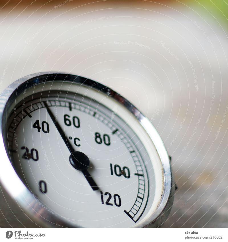 °C Messinstrument Thermometer Heizungsthermometer Temperaturmessgerät Metall Wärme grau silber messen Grad Celsius rund heizen Tauchhülsenausführung heiß