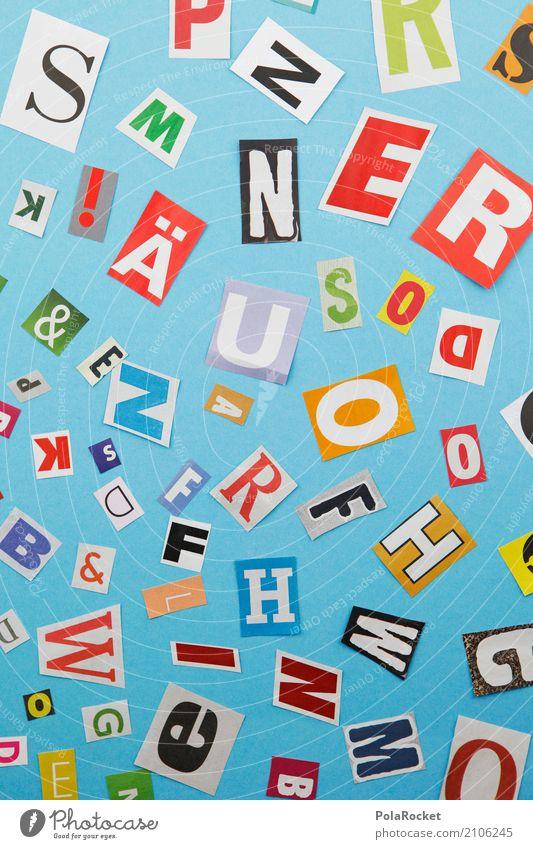 #A# S W N E R O O D Kunst Kunstwerk ästhetisch viele Buchstaben Buchstabensuppe Kreativität Idee illustrieren durcheinander blau alphabetisch Sprache
