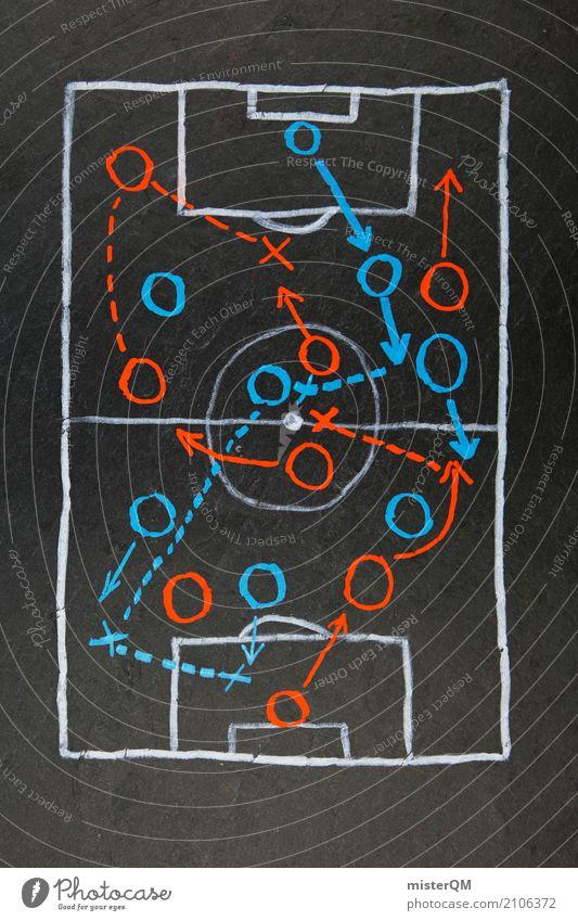 Kreidezeit? Taktik! Alles klar? Kunst ästhetisch Fußball planen Sport-Training Kunstwerk Plan Tischfußball Fußballplatz Formation Weltmeisterschaft