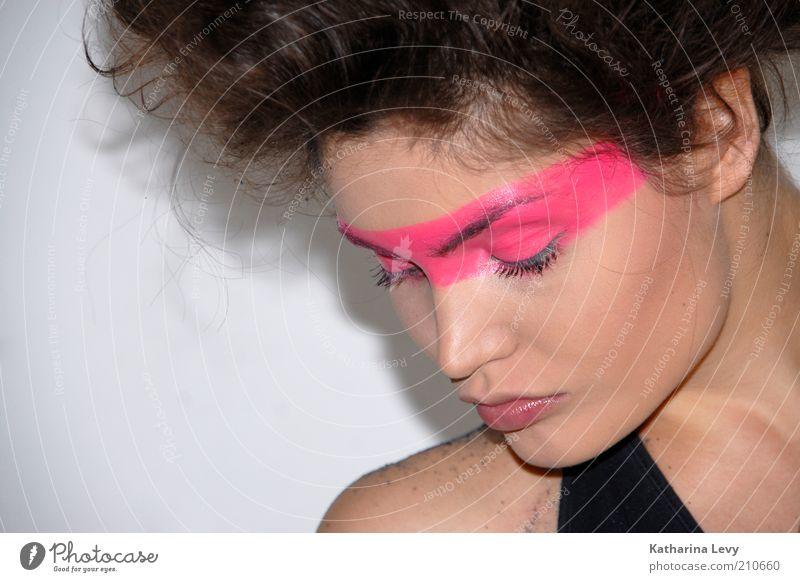 Pink shot Mensch Jugendliche schön schwarz Gesicht Erwachsene feminin Haare & Frisuren Stil rosa elegant Lifestyle 18-30 Jahre Coolness Junge Frau Model