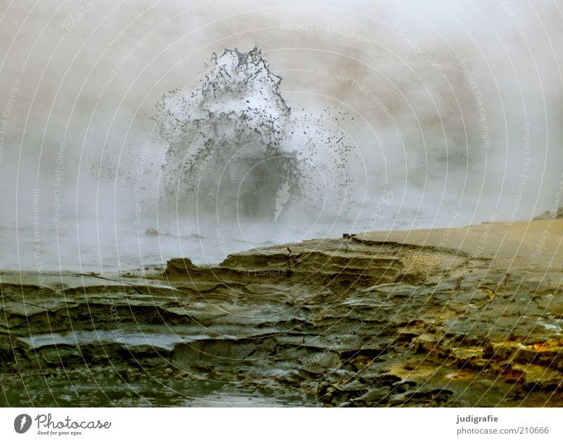 Island Natur dunkel Landschaft Umwelt Wärme Erde Stimmung natürlich wild bedrohlich Urelemente außergewöhnlich Hügel heiß fantastisch Island