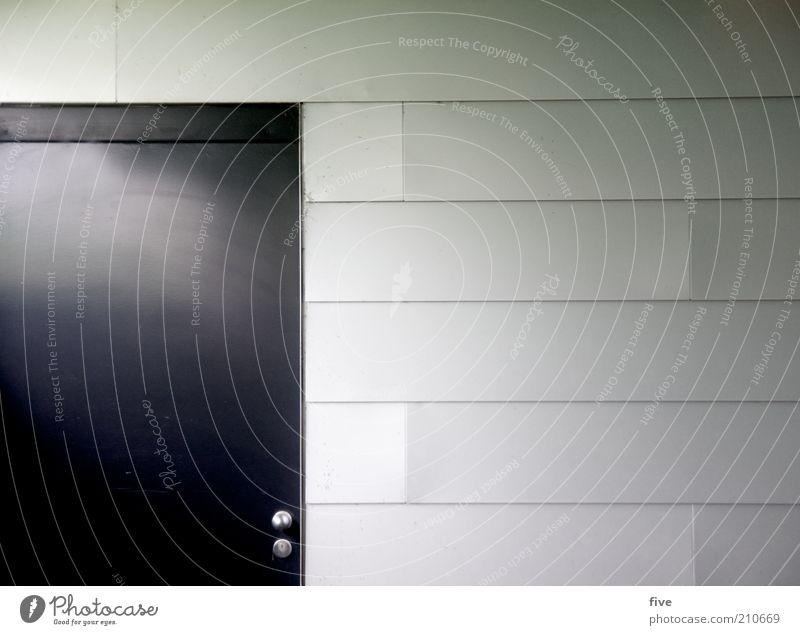 tür Haus dunkel kalt Wand Architektur grau Gebäude Mauer braun Tür elegant Fassade trist einfach Bauwerk Fabrik