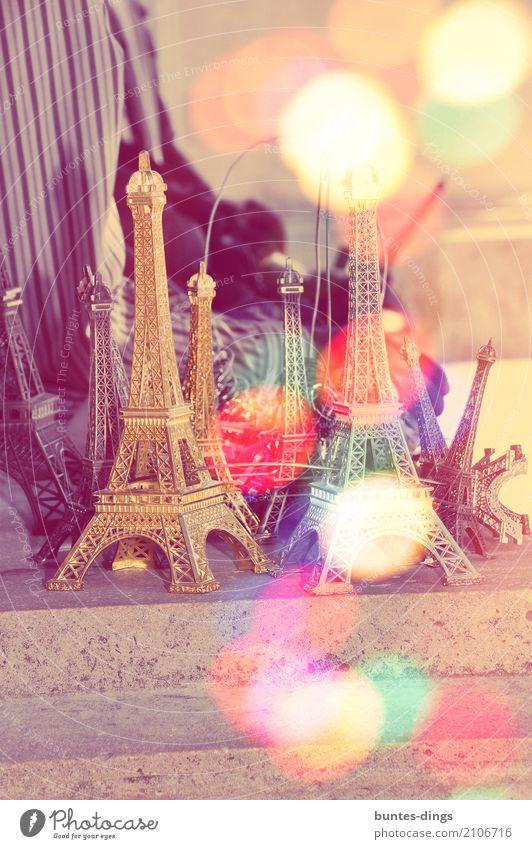 Eiffelturm Ferien & Urlaub & Reisen Sommer Stadt Freude Architektur Lifestyle Stil Gebäude Glück außergewöhnlich Tourismus Ausflug träumen leuchten Abenteuer