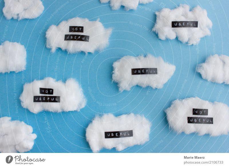 Meditieren - Gedanken hilfreich oder nicht hilfreich Lifestyle Freude Wolken Denken entdecken sitzen außergewöhnlich Fröhlichkeit Originalität blau achtsam