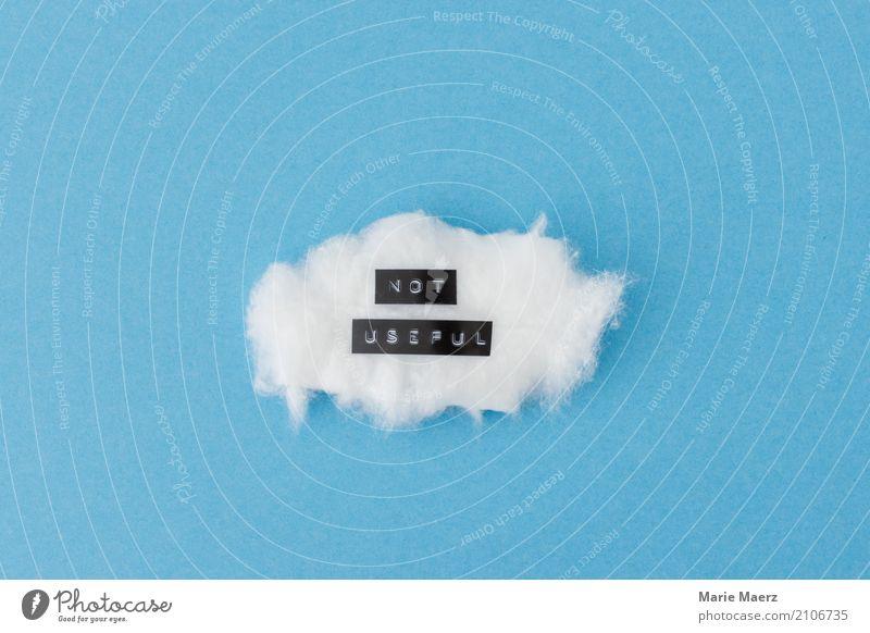Nutzlose Gedanken Wolken beobachten Denken entdecken Erholung einfach blau weiß achtsam ruhig Stress Irritation Meditation abschalten Verstand Sorge Farbfoto