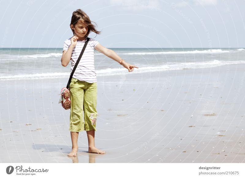 1511 … 1512 … 1513 … Kind Ferien & Urlaub & Reisen Sommer Strand Mädchen Ferne Wärme Freiheit Küste Glück träumen Wetter Wellen Wind Kindheit stehen