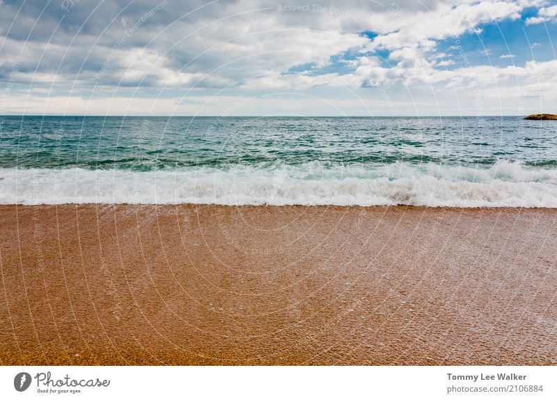 Ruhige See schön Erholung Ferien & Urlaub & Reisen Sommer Strand Meer Insel Tapete Natur Landschaft Himmel Horizont Schönes Wetter Küste Fluggerät Linie blau