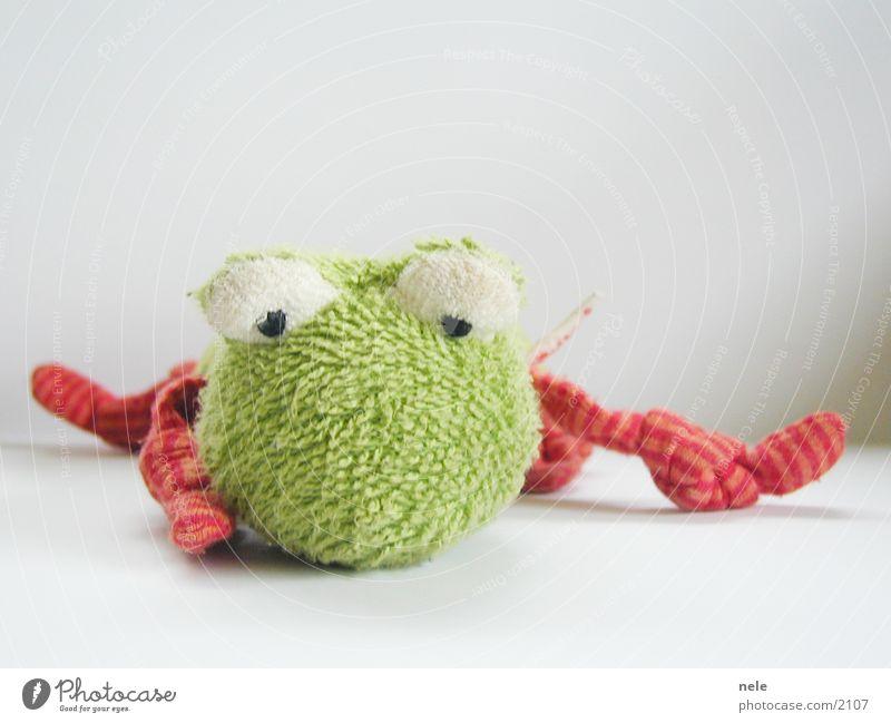 Froschgesicht grün Tier Traurigkeit Wetter Trauer liegen Freizeit & Hobby Spielzeug Stoff Müdigkeit Puppe