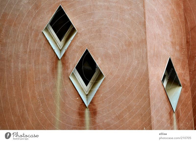 Fensterähren rot Haus braun Fassade außergewöhnlich Quadrat Fensterscheibe Barcelona Rechteck Sehenswürdigkeit Fensterrahmen rotbraun bräunlich Park Güell