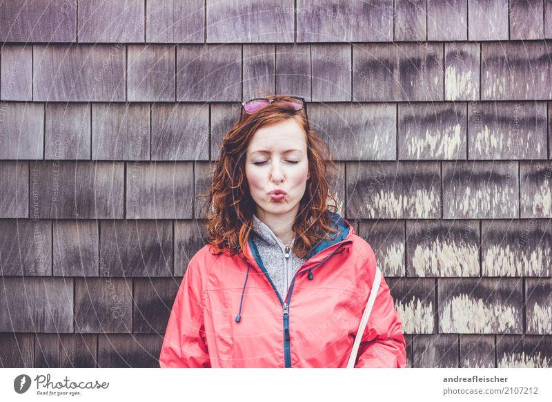 Road Trip // West Coast USA, Oregon Mensch Ferien & Urlaub & Reisen Jugendliche Junge Frau Freude Ferne 18-30 Jahre Erwachsene Wand lustig feminin Mauer Glück