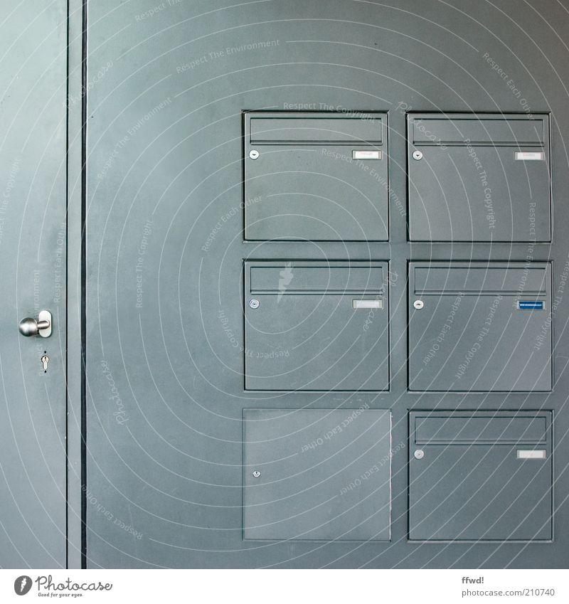 [PC-Usertreff Ffm]: Verschlusssache Stadt Haus Einsamkeit Wand Mauer Gebäude Metall Wohnung Tür Fassade geschlossen einfach Schloss Griff Briefkasten steril