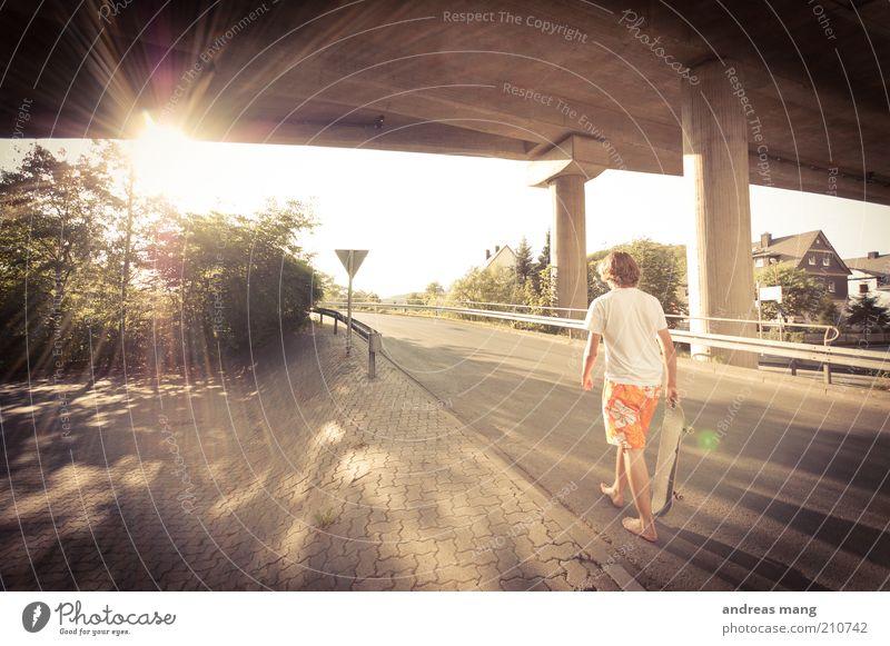 This is where I live | No. 008 Jugendliche Ferien & Urlaub & Reisen Sonne Sommer Erholung Straße Wärme Freiheit Bewegung Stil gehen laufen Beton frei Brücke Coolness