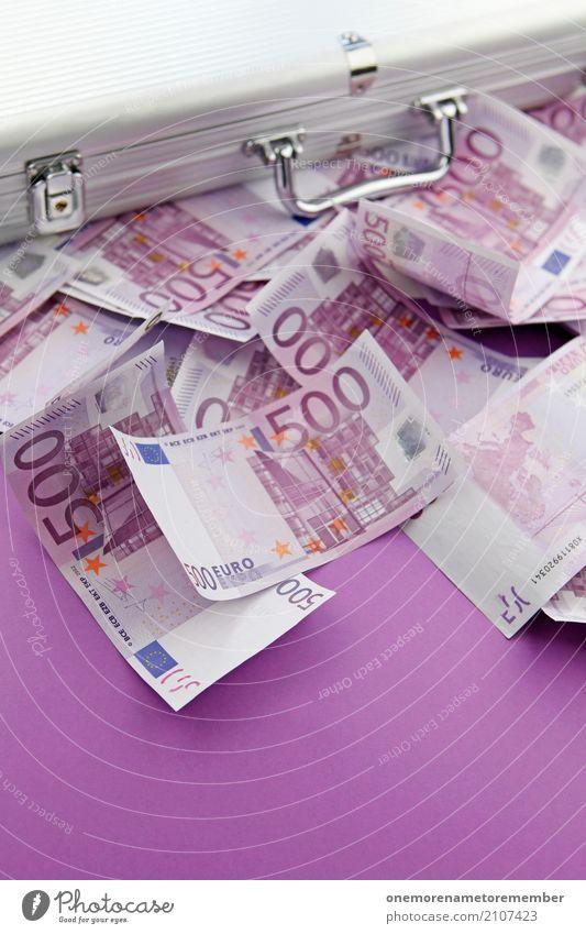 Real Money IV Kunst Kunstwerk ästhetisch Handel Euro Euroschein Geldkoffer Koffer Erfolg Trostpreis Gewinnspiel 500 Geldscheine reich Reichtum Lotterie