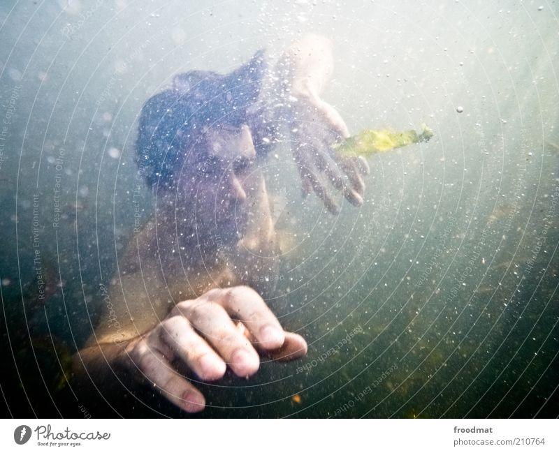 1200 - und weiter auf schatzsuche Wassersport tauchen Mensch maskulin Mann Erwachsene Hand Finger Umwelt Natur Urelemente Sommer Ostsee Meer See Erholung