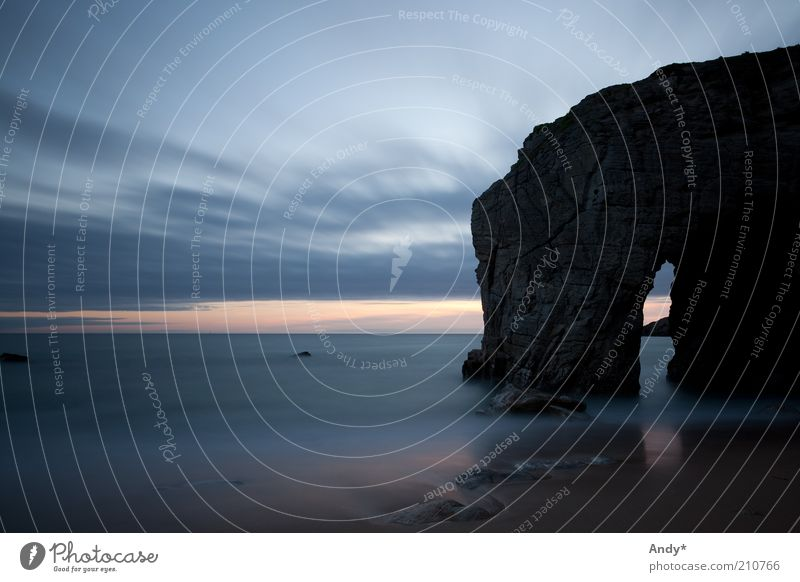 Der Weg zu Ruhe Ferien & Urlaub & Reisen Ferne Strand Meer Bretagne Morbihan La Côte sauvage Natur Landschaft Wasser Himmel Wolken Horizont Felsen Bucht