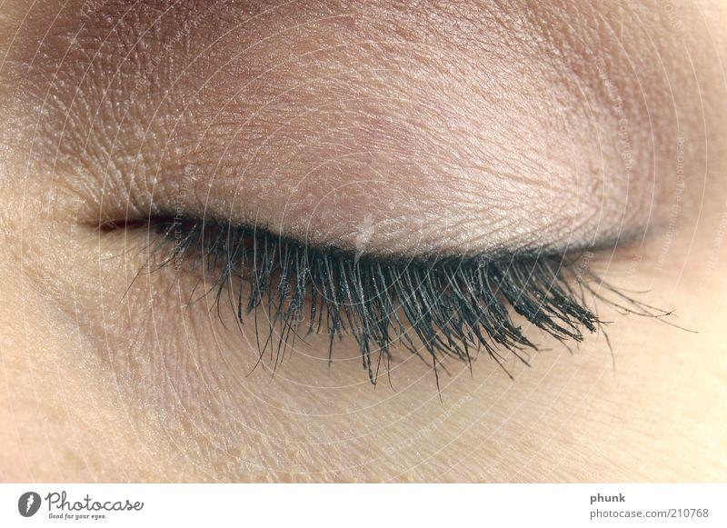 Make up Lifestyle elegant Stil schön Haut Gesicht Kosmetik Schminke Wimperntusche Mensch feminin Frau Erwachsene Auge 1 Gefühle Stimmung Farbfoto