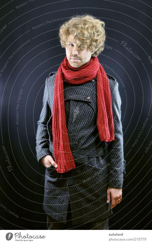 herbstmode Mensch Mann Jugendliche schön rot Stil grau Mode blond Erwachsene maskulin elegant Bekleidung Lifestyle