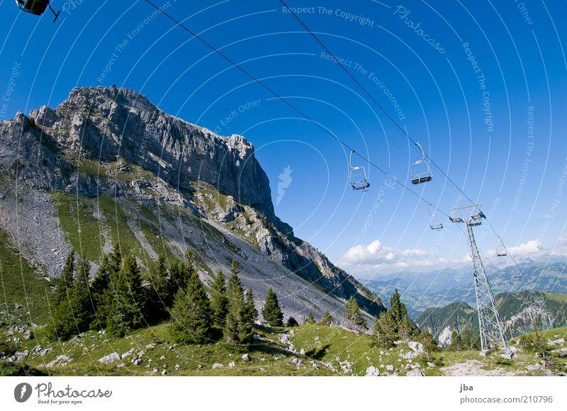 Bergbahn Natur alt Sommer Winter Ferien & Urlaub & Reisen Ferne Erholung Arbeit & Erwerbstätigkeit Berge u. Gebirge Freiheit Landschaft Felsen Ausflug Tourismus Freizeit & Hobby