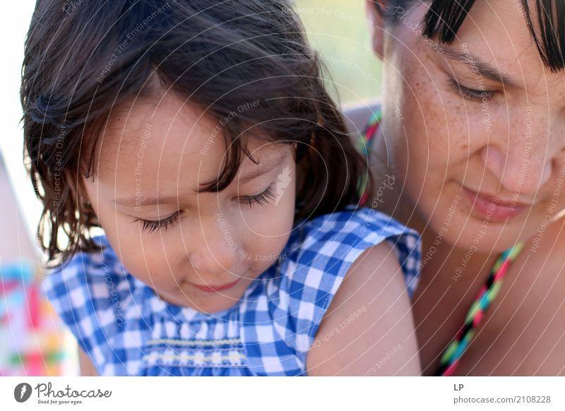 Tochter und Mutter Lifestyle Zufriedenheit Muttertag Kindererziehung Bildung Kindergarten lernen Mensch feminin Mädchen Junge Frau Jugendliche Eltern Erwachsene