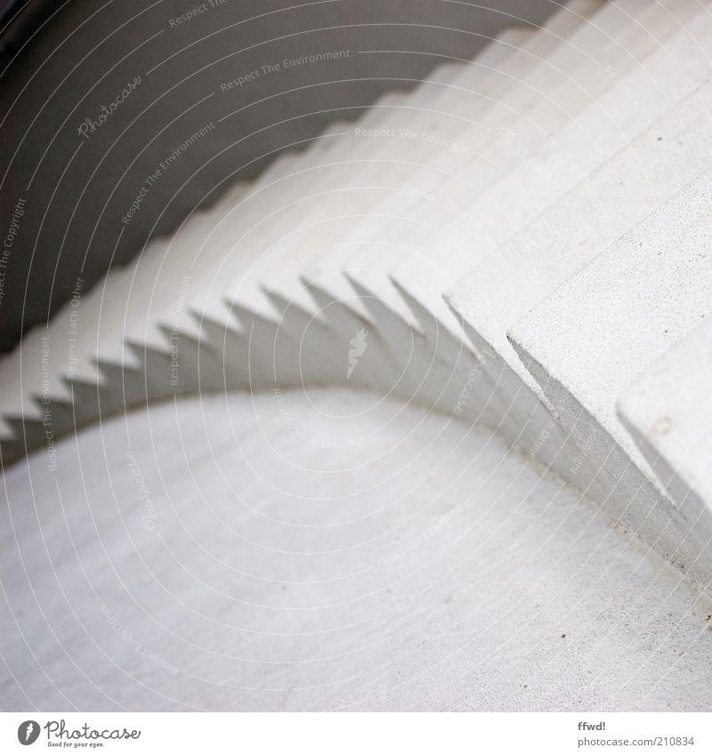 [PC-Usertreff Ffm]: Abwärts weiß oben Architektur Beton Beginn Treppe Zukunft Neugier Erwartung abwärts ungewiss Gebäude