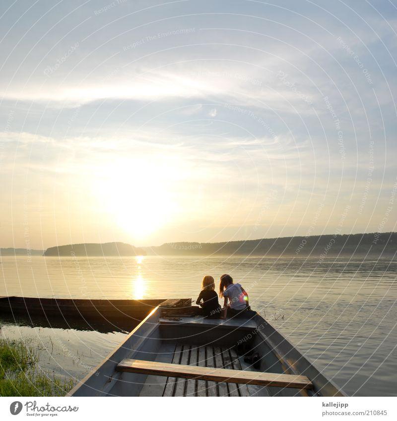 huckleberry und finn Mensch Kind Natur Wasser Mädchen Sonne Meer Sommer Ferien & Urlaub & Reisen Ferne Leben Junge Freiheit Familie & Verwandtschaft See Umwelt