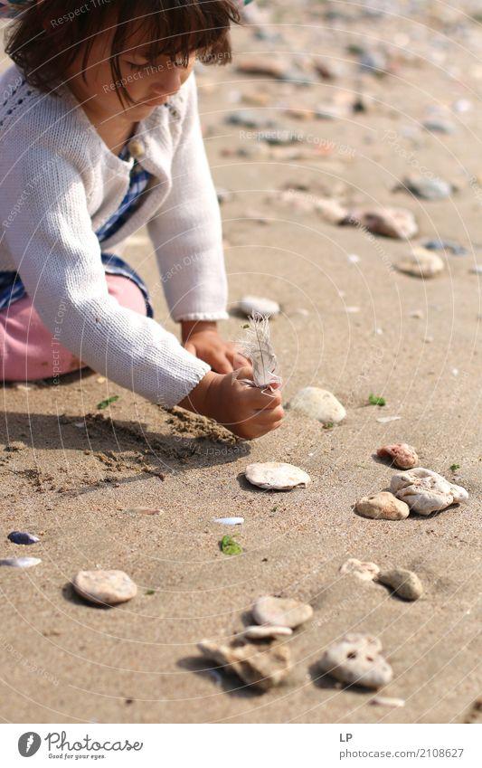 auf den Sand schreiben Mensch Kind Ferien & Urlaub & Reisen Meer Erholung ruhig Strand Leben Gefühle Spielen Stein Freizeit & Hobby Ausflug Zufriedenheit