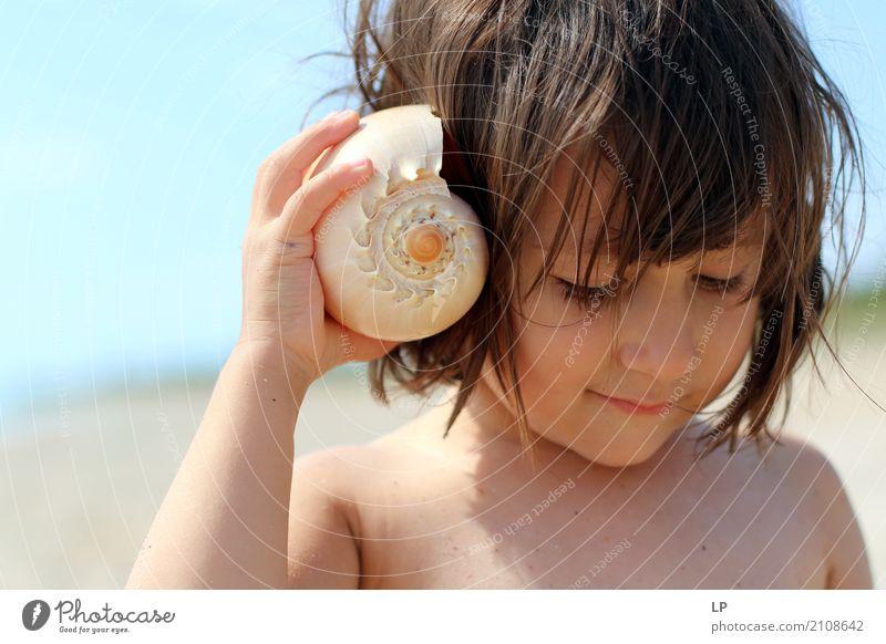 Hallo Mensch Kind Meer Erholung ruhig Freude Strand Leben Lifestyle Gefühle Familie & Verwandtschaft Freizeit & Hobby Zufriedenheit Wellen Baby