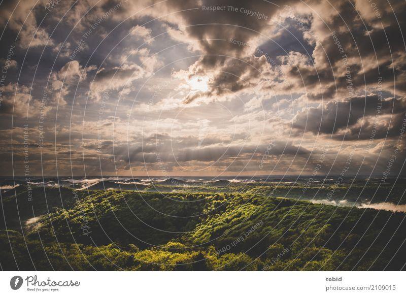 After the rain Pt.2 Natur Landschaft Himmel Wolken Horizont Frühling Sommer Schönes Wetter Wald Hügel frei Unendlichkeit Einsamkeit einzigartig Idylle Ferne