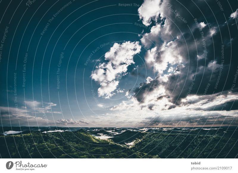 Clouds Himmel Natur Sommer Landschaft Sonne Einsamkeit Wolken Ferne Wald Horizont Nebel Wetter Idylle Schönes Wetter einzigartig Hügel