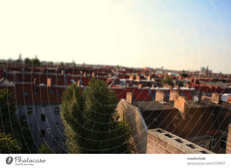 BLR BLN Umwelt Berlin Stadt Hauptstadt Stadtzentrum Haus authentisch Gefühle Stimmung Panorama (Aussicht) Dach Skyline Farbfoto Gedeckte Farben mehrfarbig