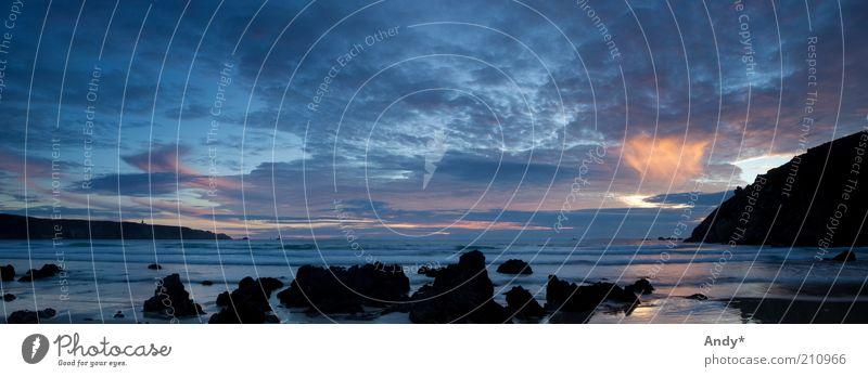 Bae an Anaon Ferien & Urlaub & Reisen Tourismus Ferne Strand Meer Atlantik Bretagne Finistere Natur Landschaft Wasser Himmel Wolken Horizont Sonnenaufgang