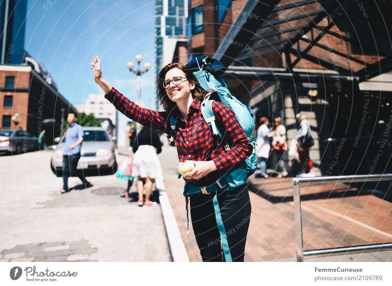 Roadtrip West Coast USA (228) feminin Junge Frau Jugendliche Erwachsene 1 Mensch 18-30 Jahre 30-45 Jahre Abenteuer Rucksack Rucksacktourismus Rucksackurlaub