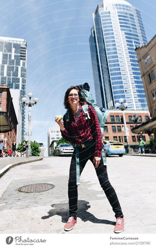 Roadtrip West Coast USA (229) feminin Junge Frau Jugendliche Erwachsene 1 Mensch 18-30 Jahre 30-45 Jahre Abenteuer Seattle Reisefotografie