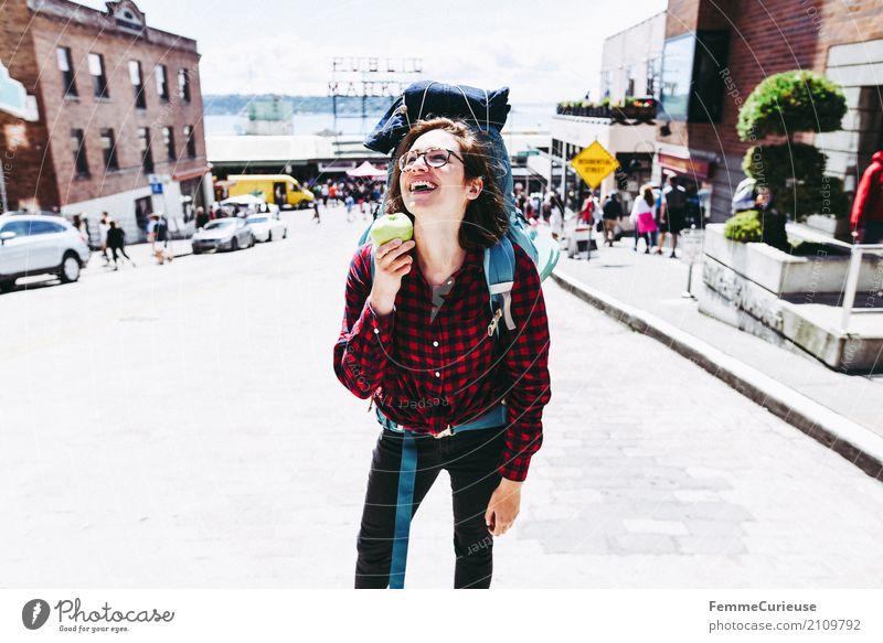 Roadtrip West Coast USA (227) feminin Junge Frau Jugendliche Erwachsene 1 Mensch 18-30 Jahre 30-45 Jahre Abenteuer Rucksacktourismus Rucksackurlaub