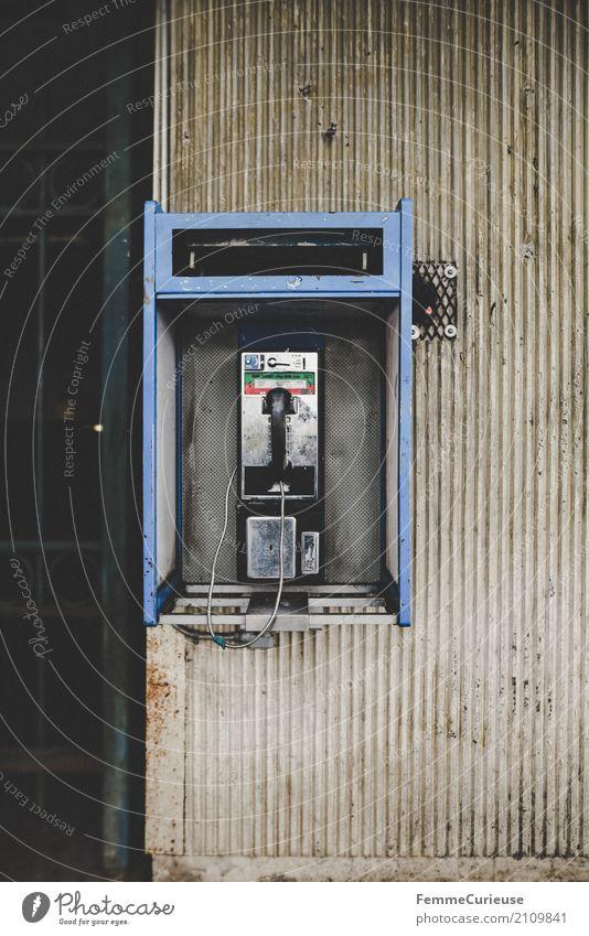 Roadtrip West Coast USA (248) Technik & Technologie Kommunizieren Telefonhörer Telefonzelle Telekommunikation Telefongespräch Westküste altmodisch Urbanisierung