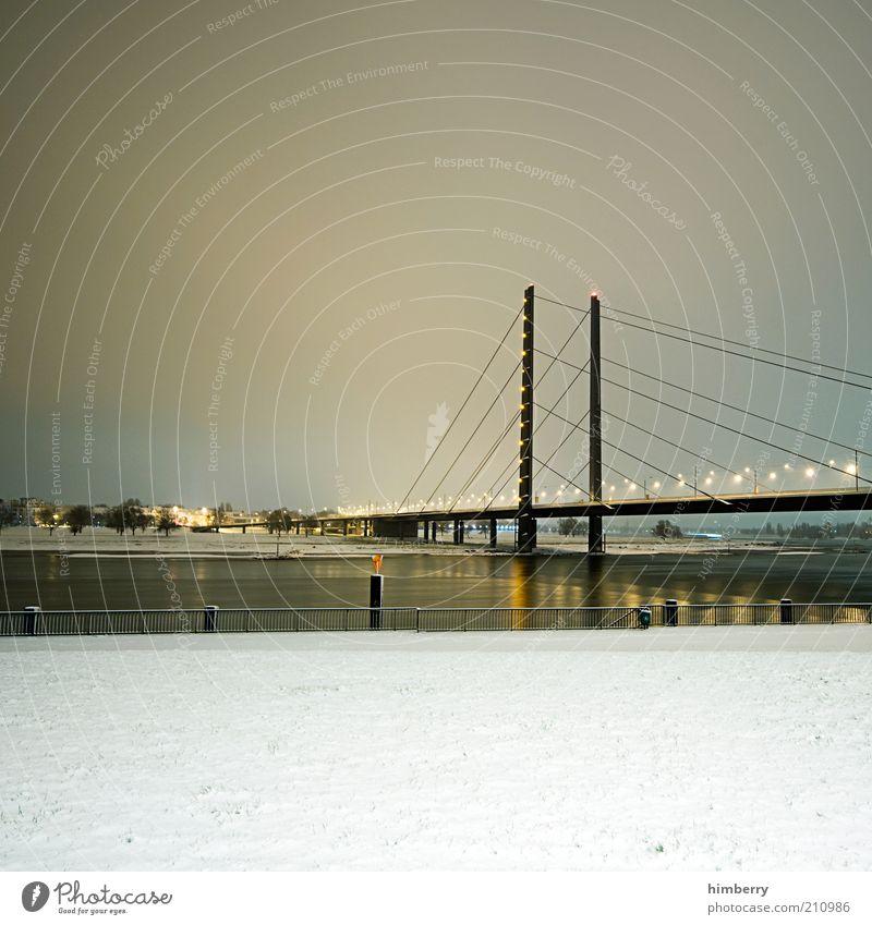 frozen street view Natur Stadt Winter Straße Schnee Gebäude Eis Architektur Deutschland Straßenverkehr Verkehr Brücke Frost Fluss Bauwerk