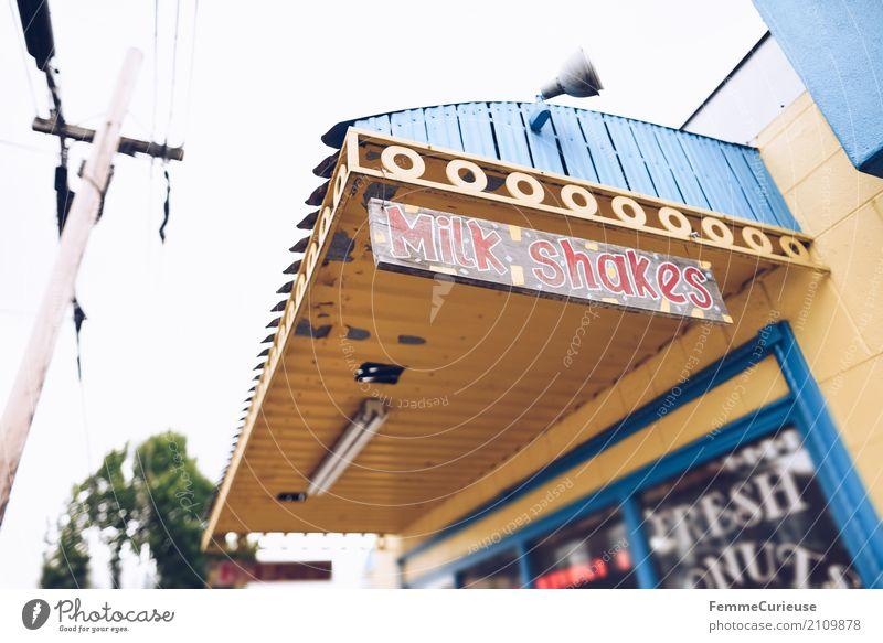 Roadtrip West Coast USA (204) Zeichen Schriftzeichen Schilder & Markierungen Hinweisschild Warnschild Freizeit & Hobby Westküste Englisch milk shakes Milchshake