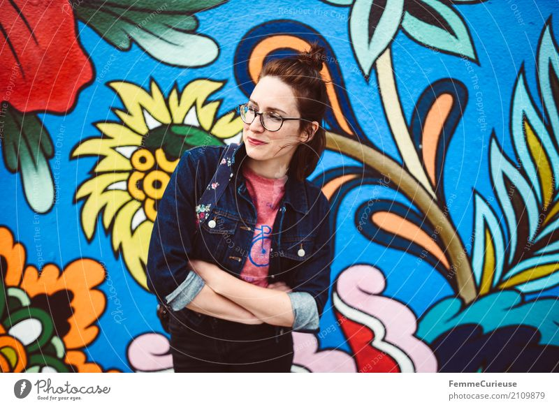 Roadtrip West Coast USA (197) feminin Junge Frau Jugendliche Erwachsene Mensch 18-30 Jahre 30-45 Jahre Lebensfreude Wandmalereien Gemälde Straßenkunst