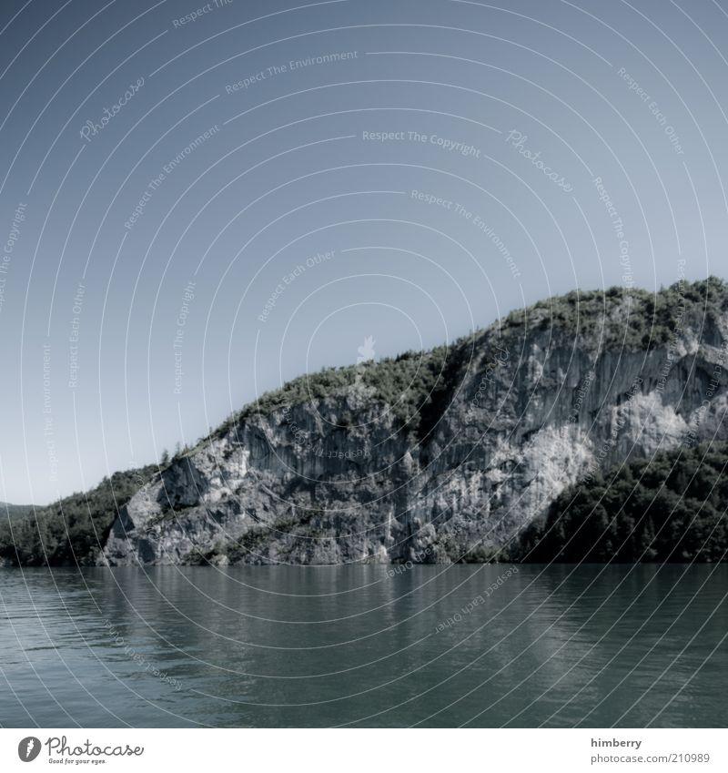 rise & fall Himmel Natur Wasser Ferien & Urlaub & Reisen Sommer Erholung Umwelt Landschaft Berge u. Gebirge Wetter Felsen Klima Hügel Alpen Seeufer Österreich