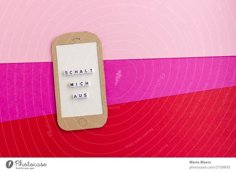 Ausschalten, abschalten. rot Erholung ruhig Lifestyle rosa Freizeit & Hobby Zufriedenheit frei modern Technik & Technologie Geschwindigkeit Kontakt Handy