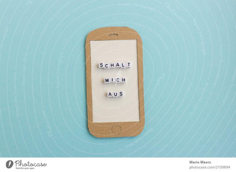 Schalt dein Handy aus! blau Erholung Freude Lifestyle Spielen Zusammensein Arbeit & Erwerbstätigkeit Freizeit & Hobby Zufriedenheit modern ästhetisch