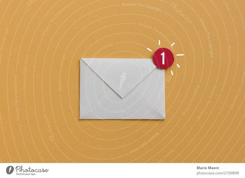 Sie haben Post - Illustration eines E-Mail Symbols Büro Business Karriere Internet lesen schreiben ästhetisch frech neu gelb Erfolg Neugier Interesse