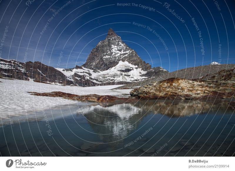 Matterhorn Ferien & Urlaub & Reisen Tourismus Ausflug Freiheit Berge u. Gebirge Wintersport Klettern Bergsteigen wandern Skifahren Natur Landschaft
