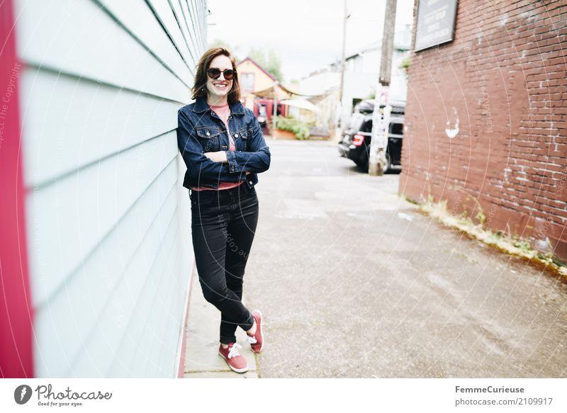 Roadtrip West Coast USA (143) Junge Frau Jugendliche Erwachsene Mensch 18-30 Jahre Zufriedenheit Urlaubsfoto Ferien & Urlaub & Reisen Fröhlichkeit Lächeln