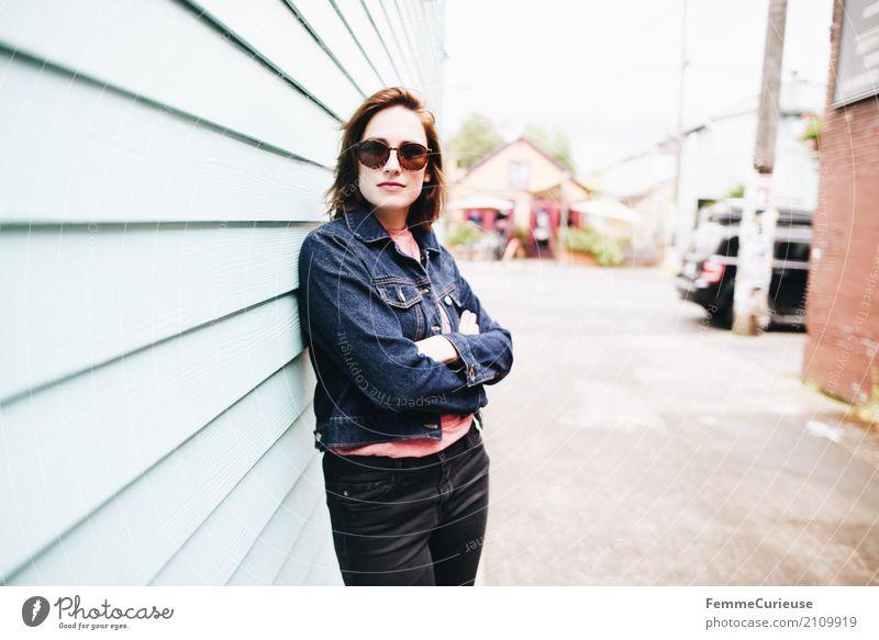 Roadtrip West Coast USA (144) feminin Junge Frau Jugendliche Erwachsene Mensch 18-30 Jahre Zufriedenheit Portland Westküste Urlaubsfoto Ferien & Urlaub & Reisen